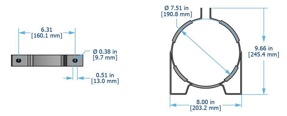 F8 mounting bracket diagram